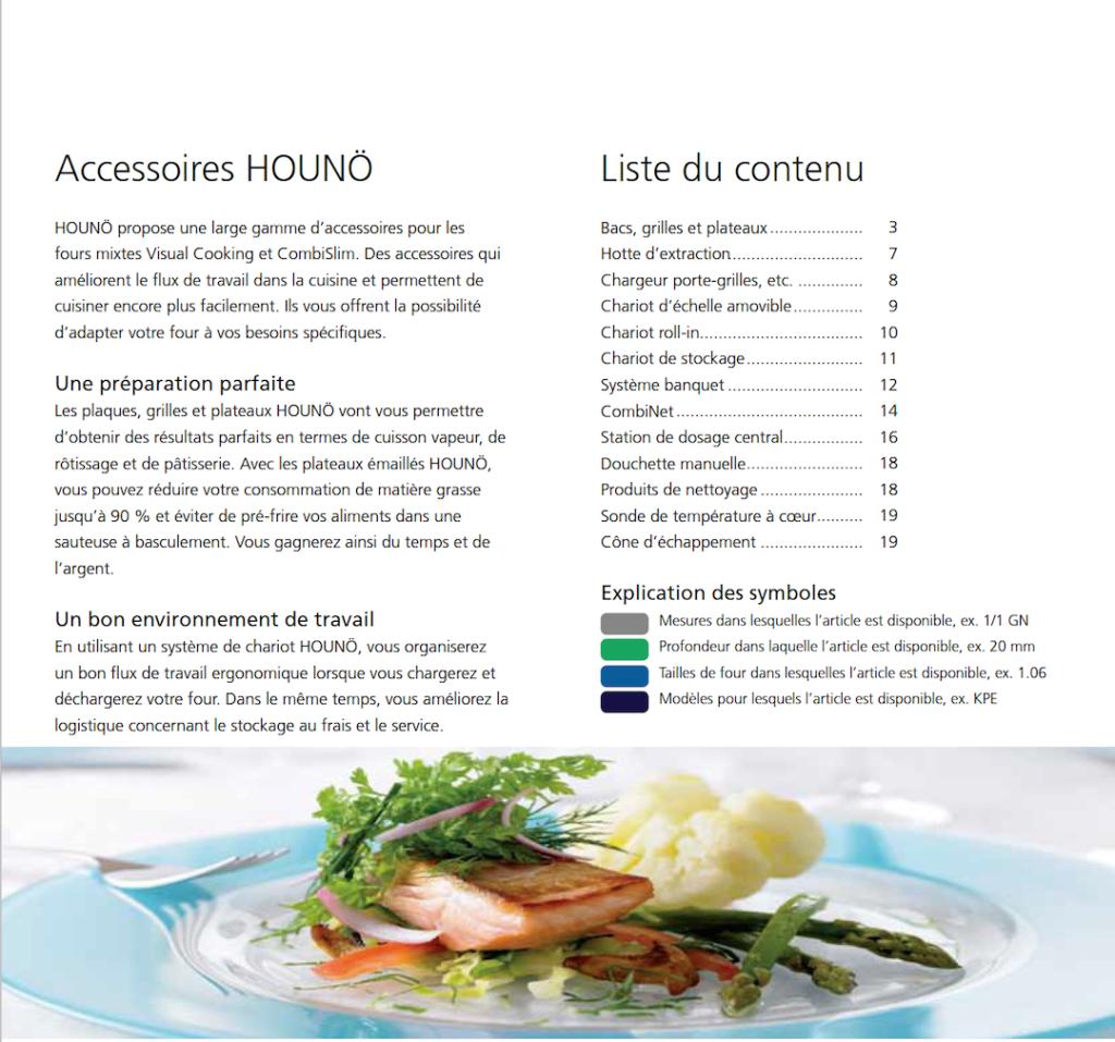 Catalogue d'accessoires pour votre four Hounö | Meinen Cuisines Professionnelles SA